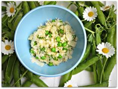 gustia: Stelline and Peas. Risotto for the Busy Girl