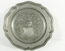 Vintage German/Bavarian Pewter Plate