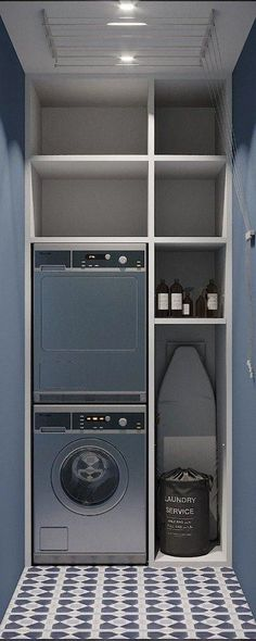 Laundry room design - This Bathroom Decor Suggestion makes it extremely simple to offer your bathroom a fresh makeover, with a combination of Do It Yourself and Lowcost, you can make the Master Bathroom, Fifty Percent, fo Best Interior Design, Interior Design Kitchen, Bathroom Interior, Laundry Room Storage, Laundry Room Design, Laundry Rooms, Kitchen Storage, Small Bathroom, Master Bathroom