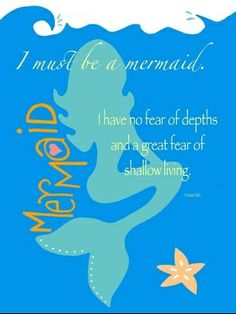 Summer Kate Studio - Art Prints I Must be a Mermaid