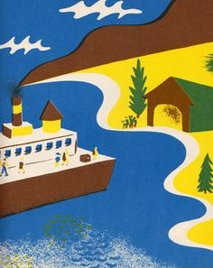 In the shop.... Country Noisy Book by Margaret Wise Brown, illustrated by Leonard Weisgard (1940).