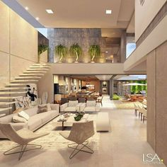 "Luxury Homes Interior Dream Houses Exterior Most Expensive Mansions Plans Modern 👉 Get Your FREE Guide ""The Best Ways To Make Money Online"" Dream Home Design, Modern House Design, Modern Condo, Modern Loft, Future House, House Goals, Modern Architecture, Luxury Homes, Luxury Life"