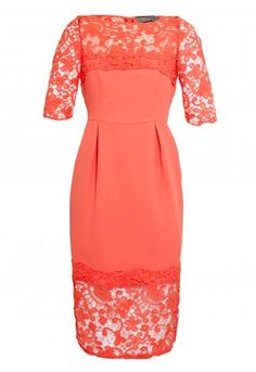 This is a stunning dress if you want to cover you upper arms! We love the colour! Bourne Elissa Dress in Coral