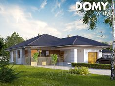 Aster 2 projekt domu - Jesteśmy AUTOREM - DOMY w Stylu Modern Properties, Kerala House Design, Kerala Houses, House Elevation, Minimalist Home, My Dream Home, Exterior Design, Home Projects, Tiny House