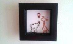 Elephant And Giraffe Shadowbox Frame Art by DragonflyHJewellery