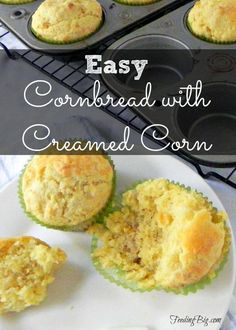 Easy Cornbread with Creamed Corn - great with soup or chlli