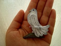 Quilled Pigeon Magnet