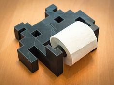 Space Invader Toilet Paper Holder by TheTajMahalo on Etsy