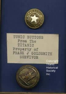 white star buttons of the titanic | Titanic Historical Society, Indian Orchard, MA white-star-buttons ...