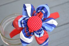 patriotic headband by YeauxYeauxBows on Etsy, $12.00