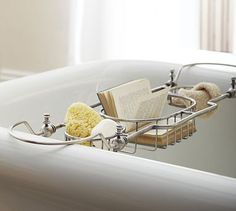 Every bath should have a tub tray/caddy. breakfast tray with legs ukGone are the days when decorating was a one particular-and-accomplished . Bathtub Tray, Bathtub Caddy, Bathroom Tray, Family Bathroom, Bath Tray Caddy, Bath Trays, Pottery Barn Bath, Home Spa, Modern Room