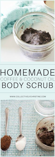Coffee Body and Face Scrub Homemade Coffee and Coconut oil body and facial scrub. Brightening, antibacterial, and softening.Homemade Coffee and Coconut oil body and facial scrub. Brightening, antibacterial, and softening. Body Scrub Recipe, Diy Body Scrub, Face Scrub Homemade, Coffee Cellulite Scrub, Coffee Face Scrub, Face Peeling, Diy Beauty Hacks, Beauty Tips, Face Masks