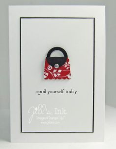 Super cute and easy Petite Purse!  Created with Cupcake Builder and circle punches...love this Fresh Prints DSP too!