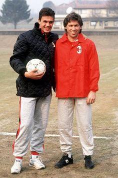 Paolo Maldini y Carlo Ancelotti
