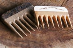 Hand-crafted Offerman Woodshop Mustache Combs. Facial Grooming the Ron Swanson Way. #movember