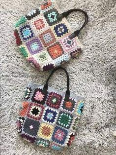 Crochet Handbags, Crochet Purses, Crochet Scarves, Crochet Blanket Edging, Granny Square Crochet Pattern, Crochet Gifts, Hand Crochet, Love Crochet, Sac Granny Square
