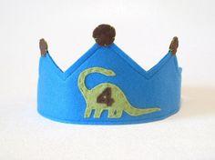 Boys Dinosaur Birthday Number Crown Hat
