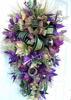 mardi gras wreath idea