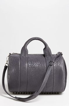 Alexander Wang 'Rocco - Antique Silver' Leather Satchel, Medium available at Nordstrom My Bags, Purses And Bags, Bags Game, Minimal Chic, Beautiful Bags, Leather Satchel, Bag Making, Alexander Wang, Antique Silver