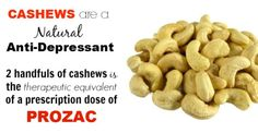 Cashew Nutrition - The Absolute Best Treatment for Depression without Medication! - http://www.shakaharitips.com/cashew-nutrition-the-absolute-best-treatment-for-depression-without-medication/