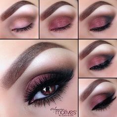 Makeup DIY ~ I love this cranberry look.  I have the colors but I have to perfect the look.