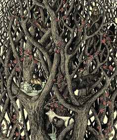 Game of Thrones tree! Fantasy Paintings, Fantasy Art, Game Of Thrones, Love Illustration, Pop Illustrations, Heart Tree, Gel Pens, Tree Art, Art Images