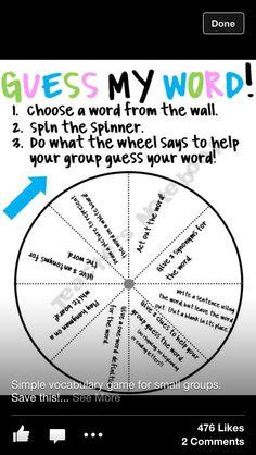 Vocabulary Game-for a quick vocabulary review!