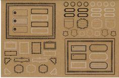 【楽天市場】Z&K PITATTE DECO(ピタットデコ) アンティークタグ 60-727 / 手芸 デコレーション スクラップ ラッピング シール #205#:フエルショップ