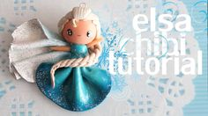 Elsa Chibi Tutorial ● FROZEN Polymer Clay Princess, Polymer Clay Disney, Cute Polymer Clay, Cute Clay, Fimo Clay, Polymer Clay Projects, Polymer Clay Charms, Clay Beads, Polymer Clay Jewelry