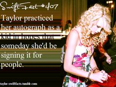 Taylor Swift Facts - If I have to admit it I did too... - We Are Litterally The Exact Same Person ♥