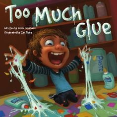 Read this book before 1st project of the year! Just a dot, just a dot, just a dot of glue! lol