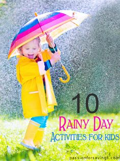 Ideas for Rainy Days with Kids! DIY Crafts and FUN Activities!