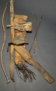 Native American Weapons A Plains bow and quiver with arrows