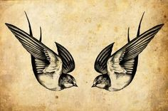 The swallow is a bird that chooses a mate for life and will only nest with that bird and no other. Therefore a swallow tattoo is also a symbol for everlasting love and loyalty to the family. Swallow pairs travel long distances, only to find their way back to each other at home