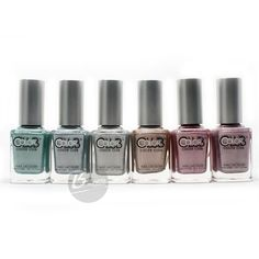 Color Club 2012 Halo Hues Holographic Nail Polish Lacquer full Set 6 Pieces