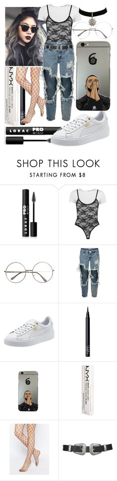 """""""Untitled #554"""" by the-fashion-fantasy ❤ liked on Polyvore featuring LORAC, Boohoo, OneTeaspoon, NARS Cosmetics, NYX, ASOS and Topshop"""