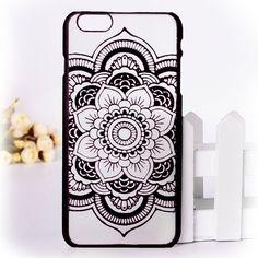 Beautiful Floral Henna Paisley Mandala Palace Flower Phone Case For iPhone 6 Plus / 6s Plus