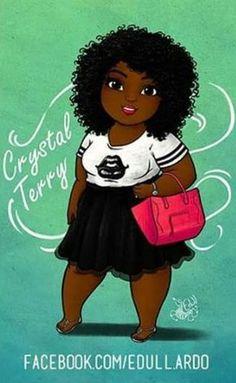 black women curves nobody likes Pretty Black Girls, Black Girl Art, My Black Is Beautiful, Black Women Art, Art Girl, Black Cartoon, Cartoon Art, African American Art, African Art