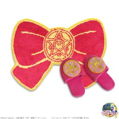 """sailor moon"" ""sailor moon compact"" ""sailor moon merchandise"" ""crystal star"" ribbon ""shower mat"" rug bathroom anime japan shop"