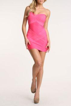 Wow Couture Kim Dress In Fuchsia