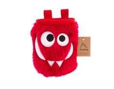 Cherry Foodie Monster Chalk Bag, Rock Climbing Chalk Bag by Crafty Climbing