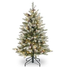 Artificial Tree Dunhill Fir with Snow 4.5 Feet Multicolored PVC Christmas Christmas Tree With Snow, Christmas Greenery, Christmas Store, Office Christmas, Gift Wrap Storage, Artificial Tree, Fir Tree, Metal Tree, Red Berries