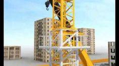 Tower Crane Assembly with Climber Demo, via YouTube.