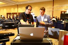Dices Chris Starenko demonstrating some of the finer points of Open Web to Eric Stromberg (@EricLStromberg) during #ERE13 #DiceUnlimited