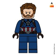 "Captain america (full name steven ""steve"" grant rogers) is traditionally seen as one of the greatest heroes of the marvel universe. How To Draw Avengers, Marvel Avengers Assemble, Lego Marvel, Simpsons Drawings, Cartoon Drawings, Adventure Time Drawings, Lego Custom Minifigures, Lego Coloring Pages, Avengers Characters"