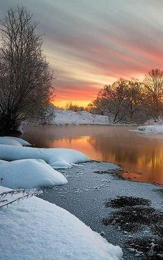 vimal D.C. - Google+ Beautiful Winter Scenes, Beautiful Sky, Beautiful Landscapes, Beautiful Places, Winter Pictures, Nature Pictures, Surreal Photos, Winter Scenery, Snow Scenes