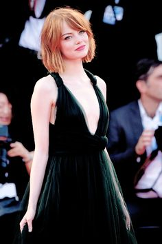 Emma Stone attends the Opening Ceremony and 'Birdman' premiere during the 71st Venice Film Festival on August 27, 2014 in Venice, Italy