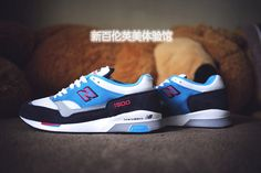 Men's And Women's New Balance 1500 Running Shoes 1500NBP Suede White Blue|only US$75.00 - follow me to pick up couopons.