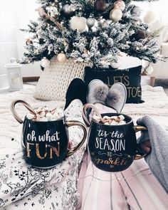 Tis the season to sip hot chocolate! Cozy up near the tree and spread the holiday cheer!