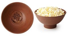 This Popcorn Bowl Features a Bottom Filter to Catch Stray Kernels #kitchen #design trendhunter.com